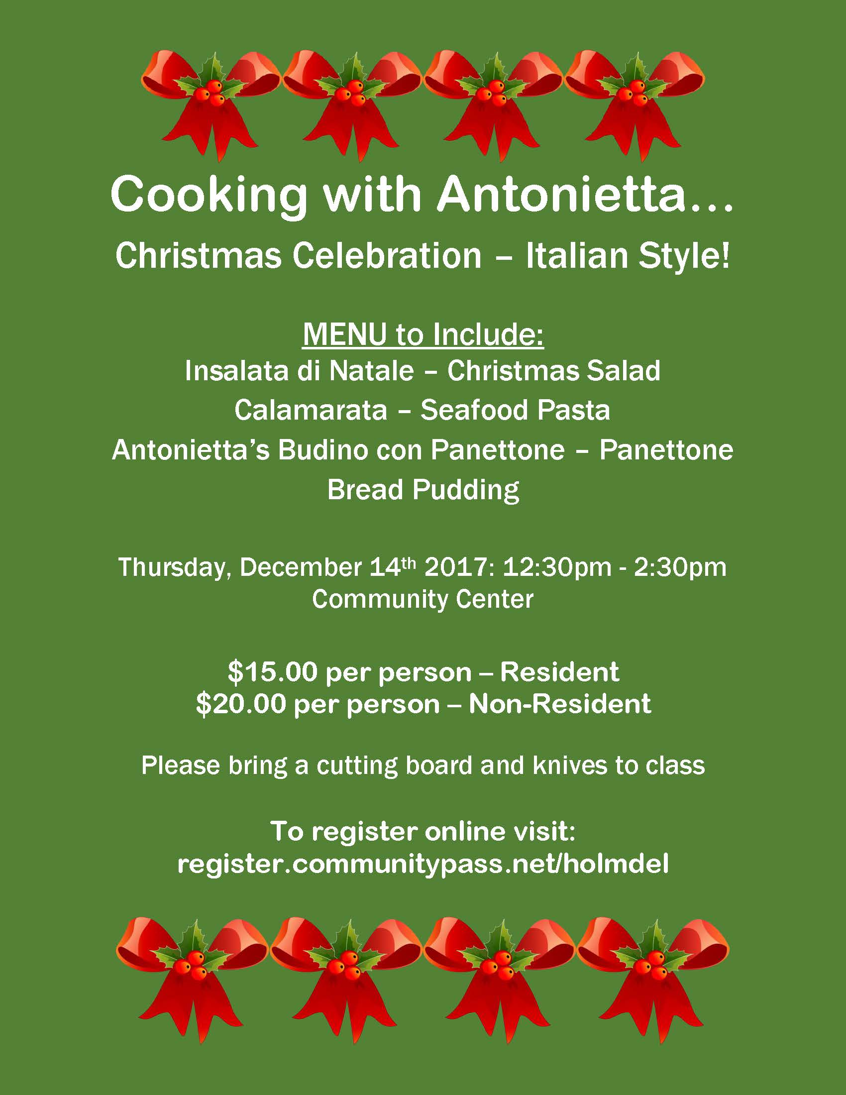 Cooking with Antonietta-December 2017