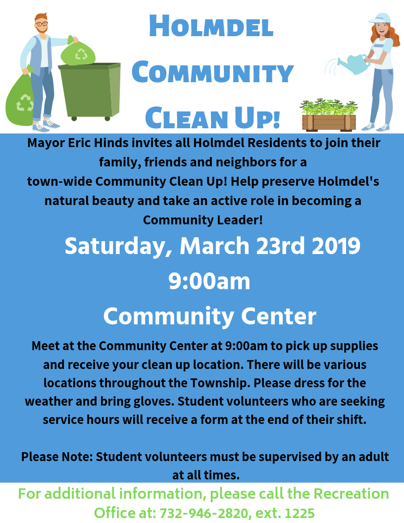 Holmdel Community Clean Up 2019 - Copy