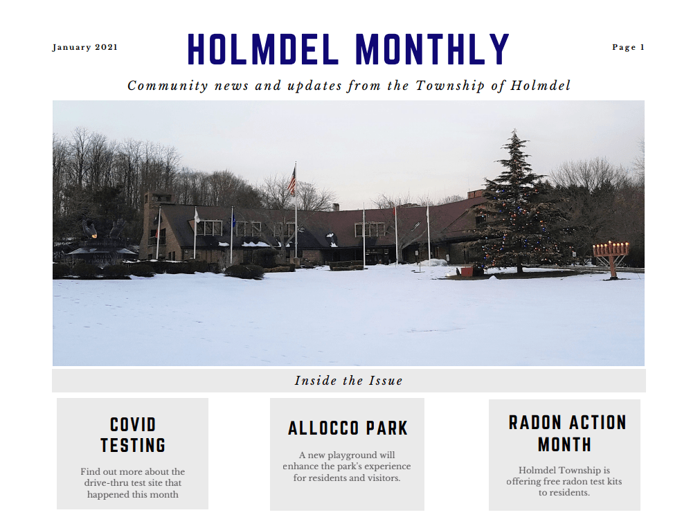 January Holmdel Monthly CLIP
